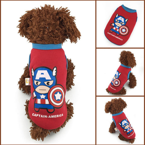 Captain America Dog Sweatshirt