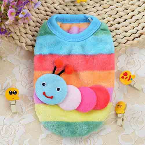 Cute Pet Cat Vest Hoodie Puppy Dog Warm Coat T Shirt Clothes Leisure Clothing For Small Dogs Cats in Autumn and Winter, 8 Styles