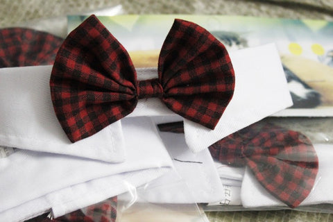 Cat/Dog Bow Ties Red