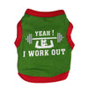 Image of I Work Out Dog Tank Top Green/Red