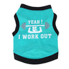 I Work Out Dog Tank Top Blue/Black