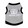 I Work Out Dog Tank Top Grey/Black