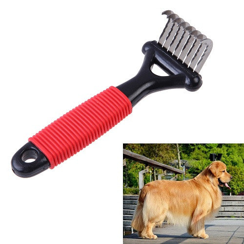High Quality Stainless Steel Pet Deshedding Comb for Long Thick Hair