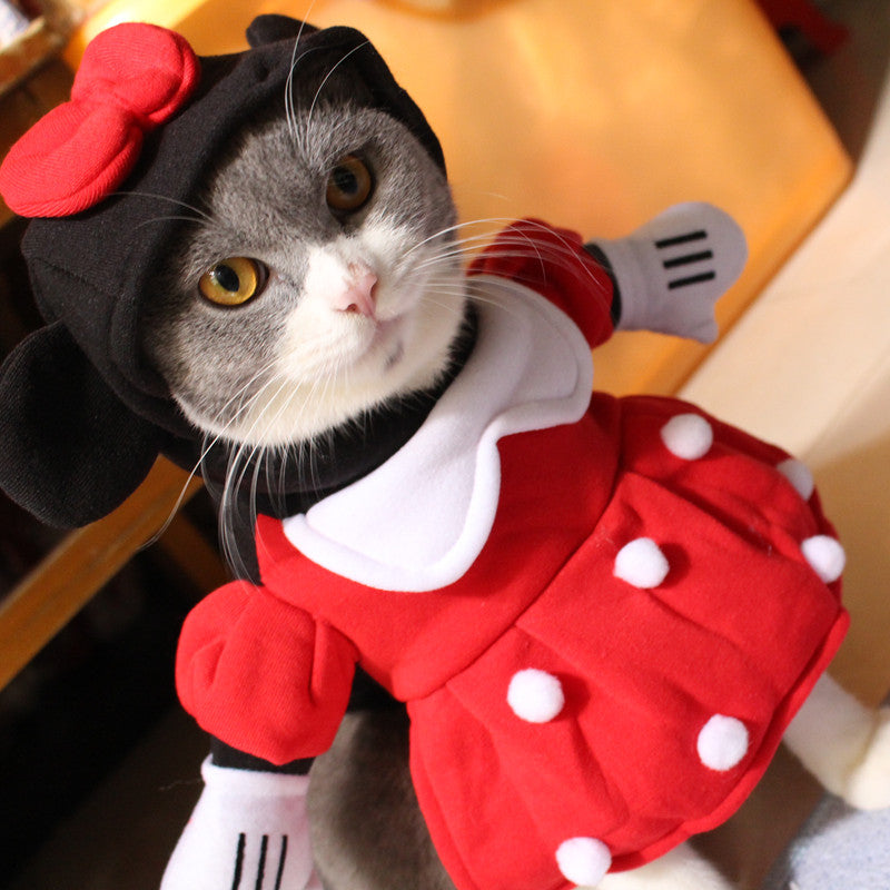 Minnie Mouse Cat Costume  Pawmighty