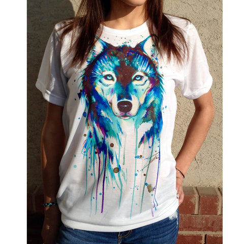 Wolf Painting T-Shirt