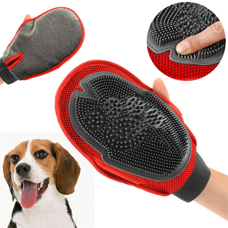 Large Red Pet Grooming Glove