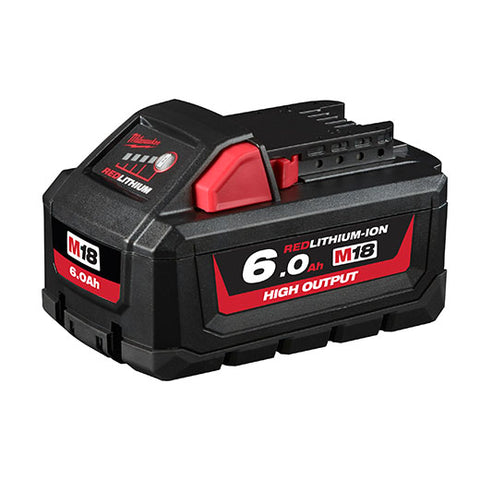 MILWAUKEE 18V 6.0AH LI-ION CORDLESS RED LITHIUM HIGH OUTPUT BATTERY - M18HB6