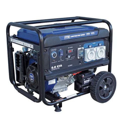 TM 6.8KVA GENERATOR PETROL CONSTRUCTION, 5500 WATT PEAK ELECTRIC START W/REMOTE - TM520-5500