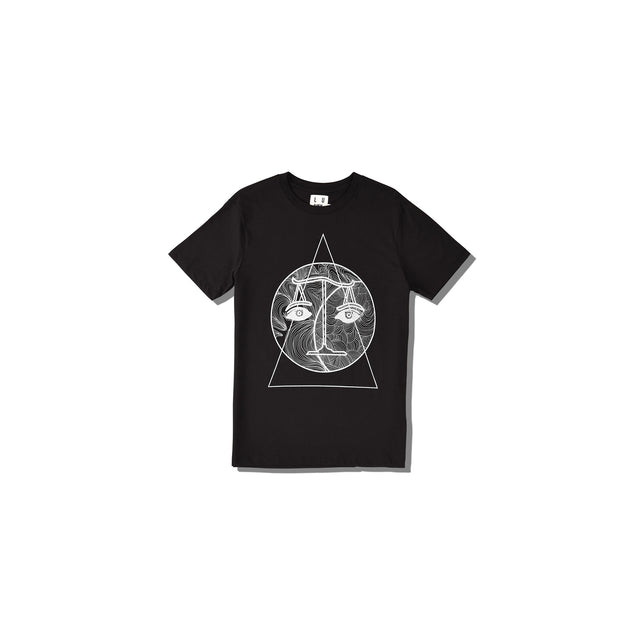 Luna Blanche Libra Hand Drawn Graphic T-Shirt