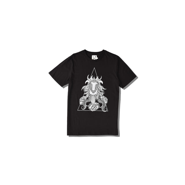 Luna Blanche Leo Hand Drawn Graphic T-Shirt
