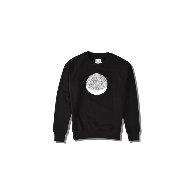 Luna Blanche My World Revolves Around You Hand Drawn Graphic Pullover