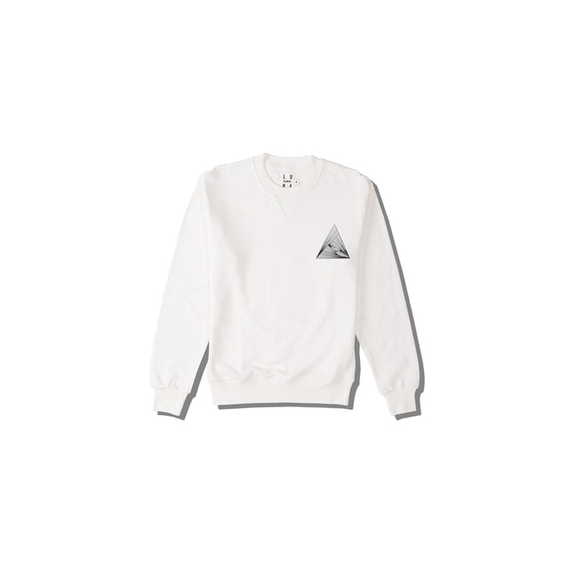 Luna Blanche Love Triangle Hand Drawn Graphic Pullover