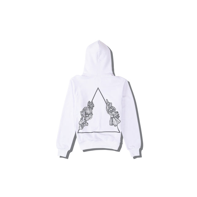 Luna Blanche Back of Luna B Hand Drawn Graphic Hoodie