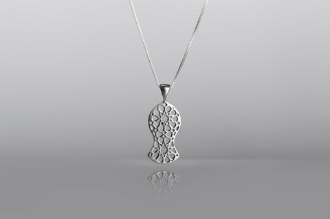 The Sandal Silver Pendant