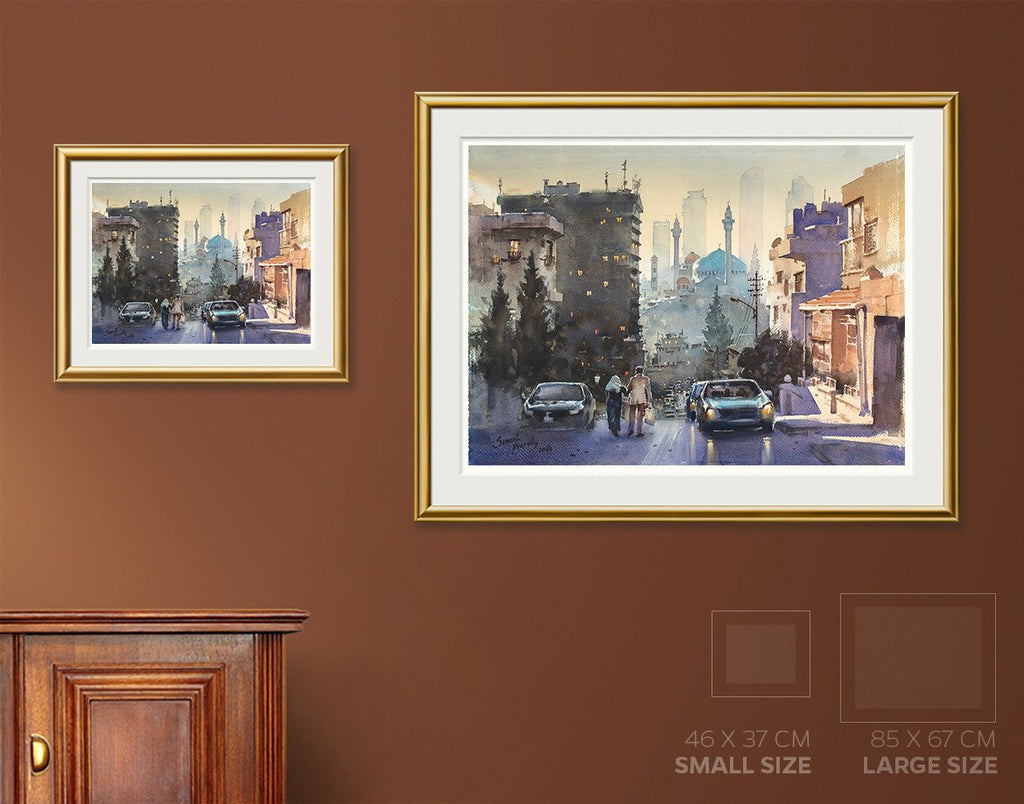 City Contrasts Painting