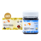 100% NEW ZEALAND MANUKA HONEY UMF® 5+ 250G + FREE 12pc Lozenge Pack