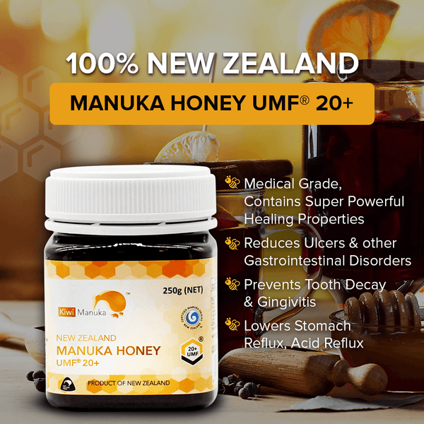 100% New Zealand Manuka Honey UMF® 20+ 250g - Kiwi Manuka - Tiffson