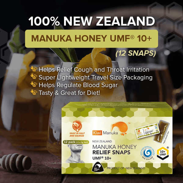 100% New Zealand Manuka Honey UMF® 10+ (12 snaps) - Kiwi Manuka - Tiffson