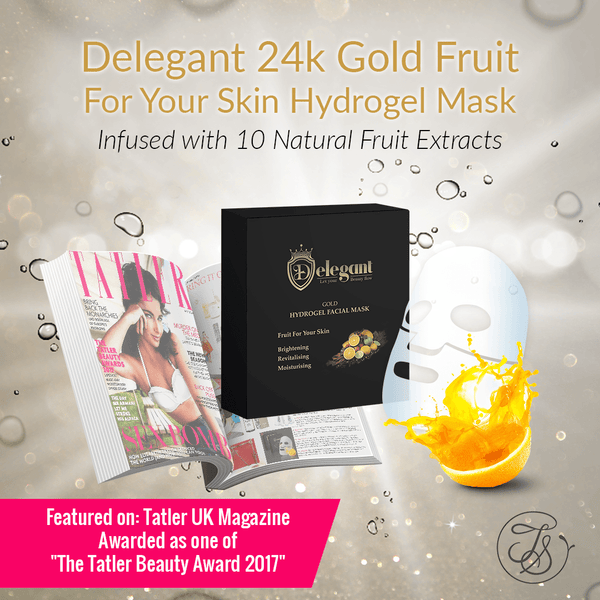 Fruit For Your Skin - 24K Gold Hydrogel Mask (5 pieces) - Delegant - Tiffson