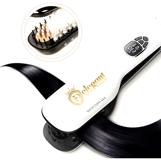 Delegant Steam Brush – Damage-free Hair Straightener - Delegant - Tiffson