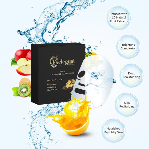 Buy 1 Get 2 FREE! 24kGold Hydrogel Mask Bundle (5pc/set) - Delegant - Tiffson