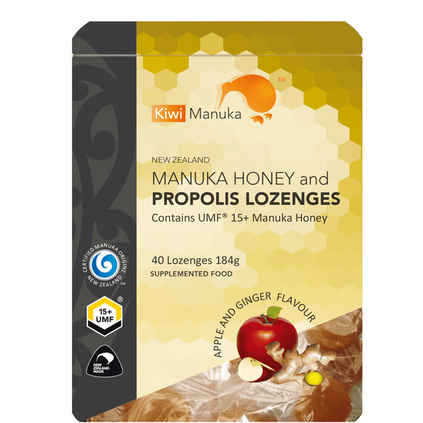 New Zealand Manuka Honey UMF® 15+ Propolis Lozenges - Apple&Ginger - Kiwi Manuka - Tiffson