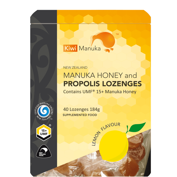 New Zealand Manuka Honey UMF® 15+ Propolis Lozenges - Lemon - Kiwi Manuka - Tiffson