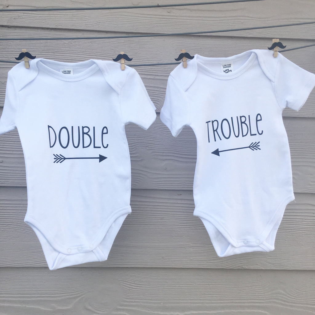 0b1952bd9 TWIN Double trouble Onesies - DesignsByLauraMay
