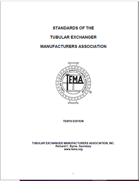 STANDARDS OF THE TUBULAR EXCHANGER MANUFACTURERS ASSOCIATION, 10TH EDITION