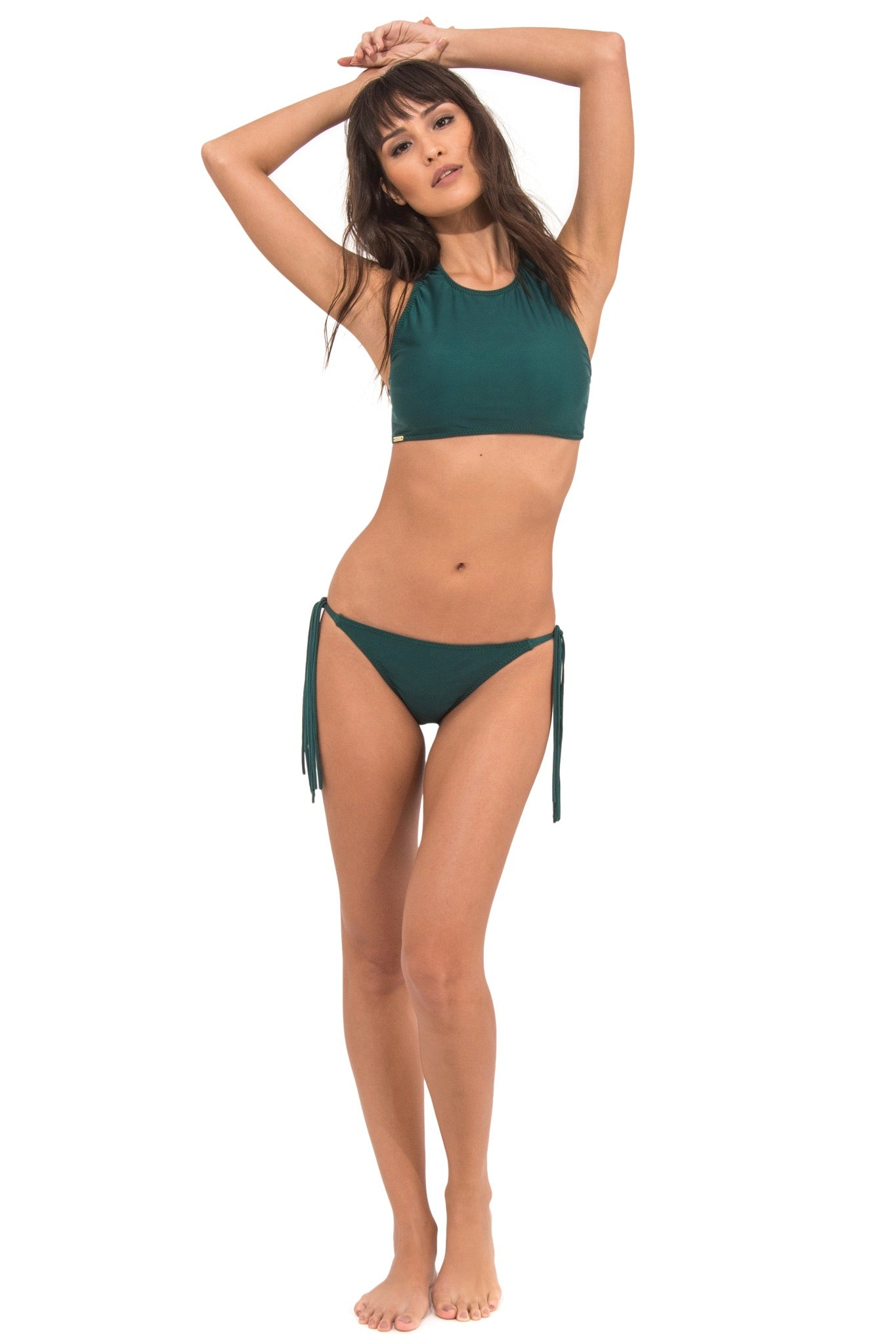 a56bb3544f390 LICHIA GREEN HIGH NECK BIKINI TOP | MAMÉDIO SWIM S/S 2018