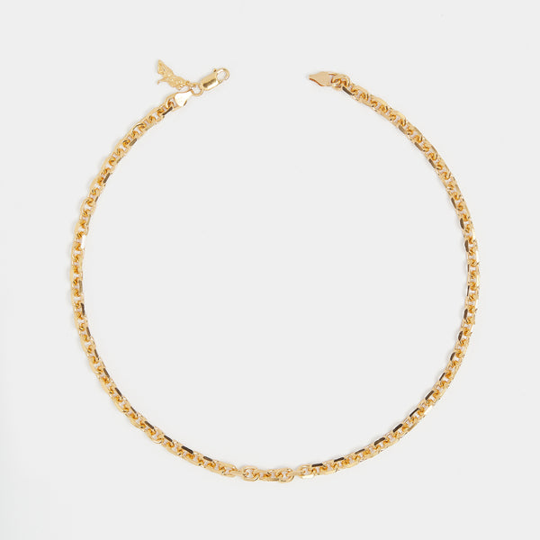 Diamond Cut Chain in Gold