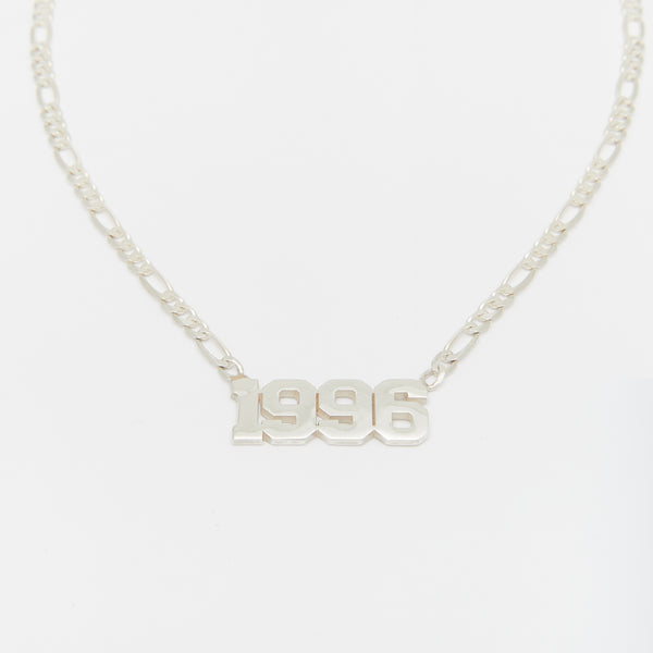 Les Années Necklace in Silver