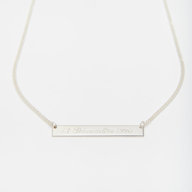 Momento Necklace in Silver