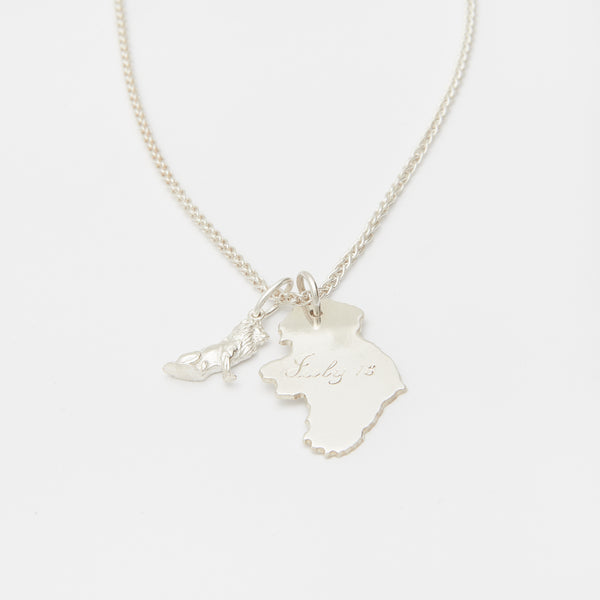Les Origines Necklace in Silver
