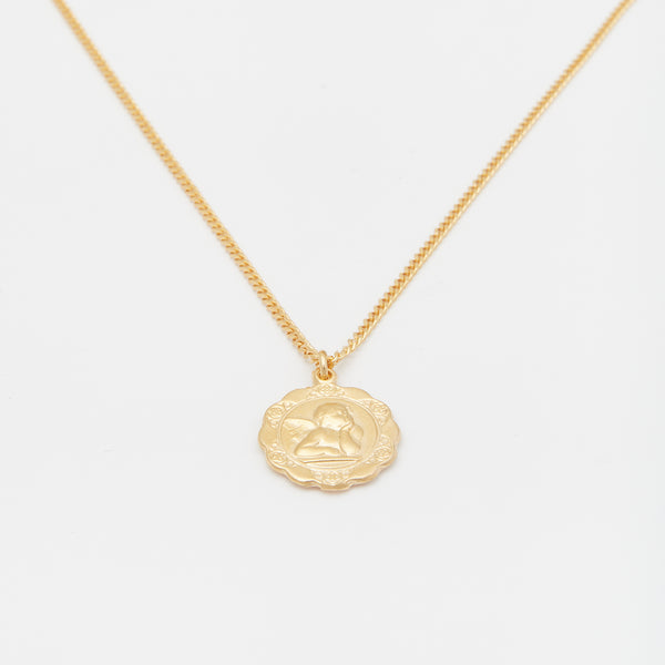 Luna Medallion Necklace in Gold for Him