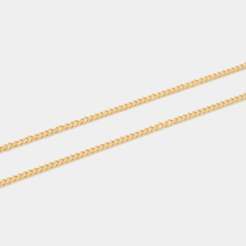 Baby Lion Tag Necklace in Gold