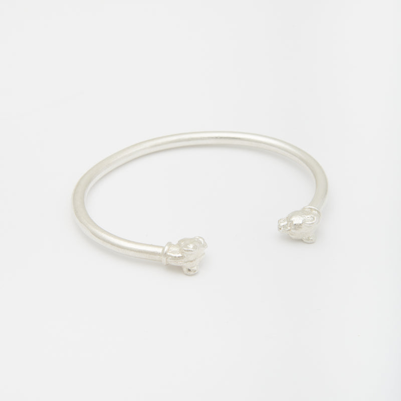 Lioness Cuff in Sterling Silver