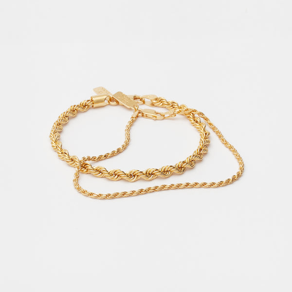 Stack Eternal Link Bracelets in Gold