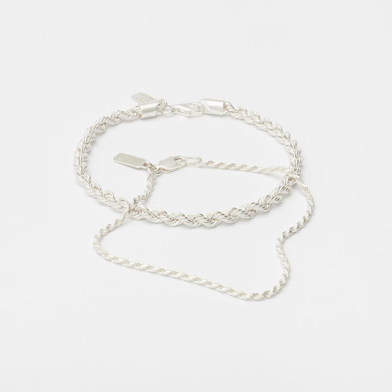 Stack Eternal Link Bracelets in Sterling Silver