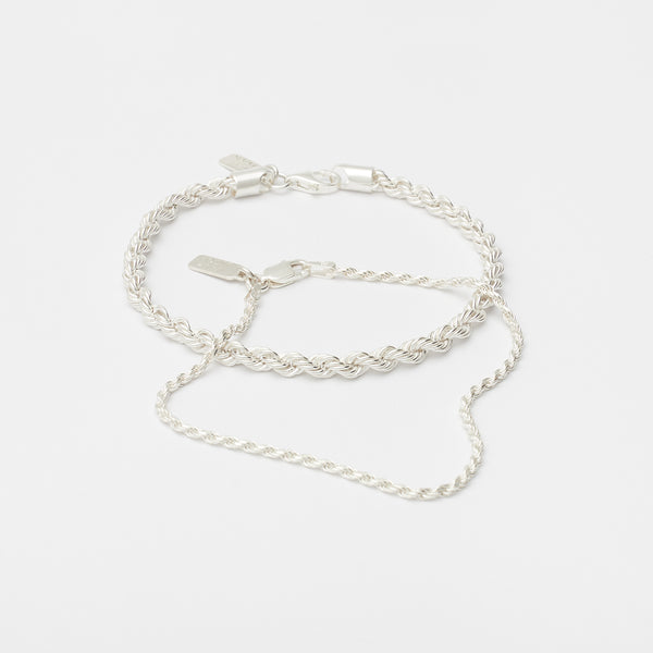 Stack Eternal Link Bracelets in Sterling Silver for her