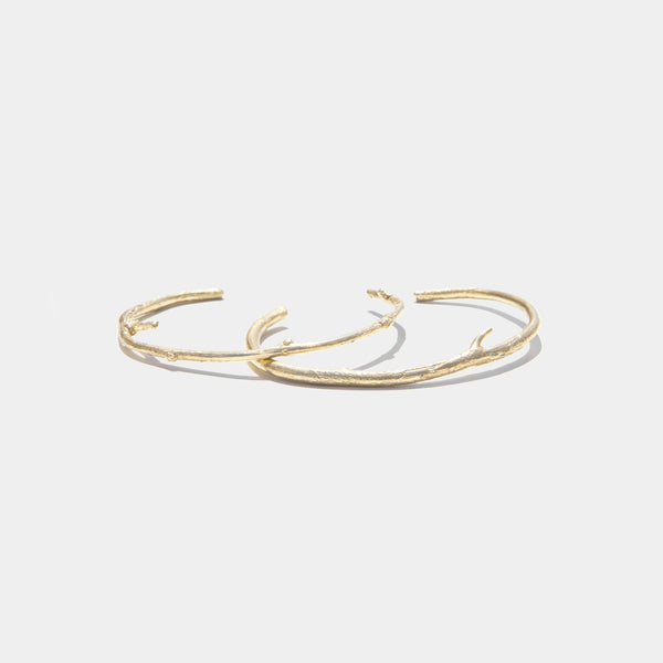 Branch Cuffs in Gold