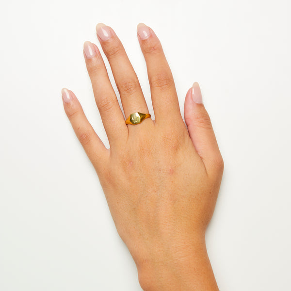 Pijama Signet Ring Solid Gold