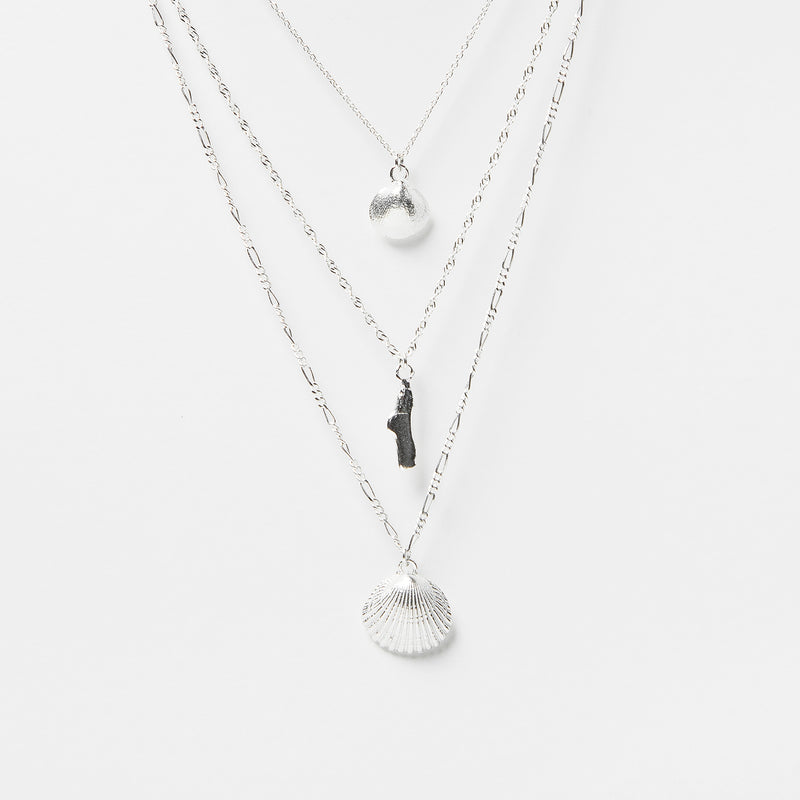 Shell Necklace Combo in Sterling Silver