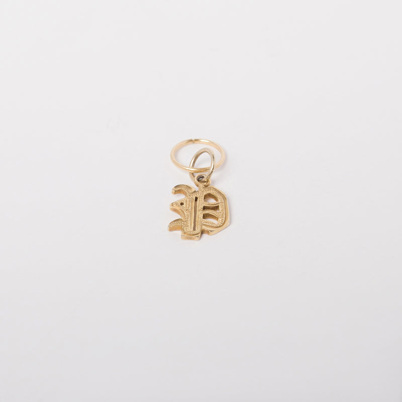 Mia Gothic Charm Earring in 10k gold