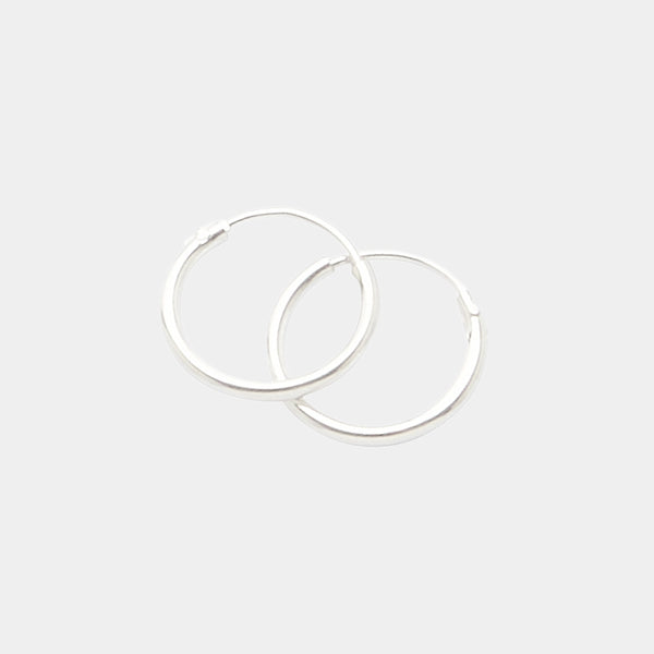 Baby Hoops in Sterling Silver