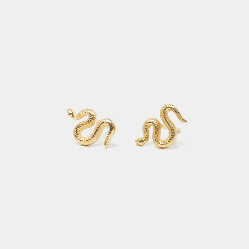 Snake Goddess Studs in Gold
