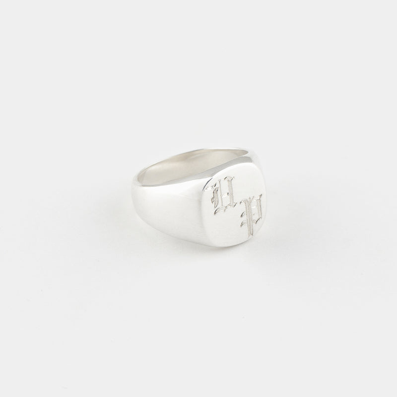 Sterling Silver Bold Signet Ring