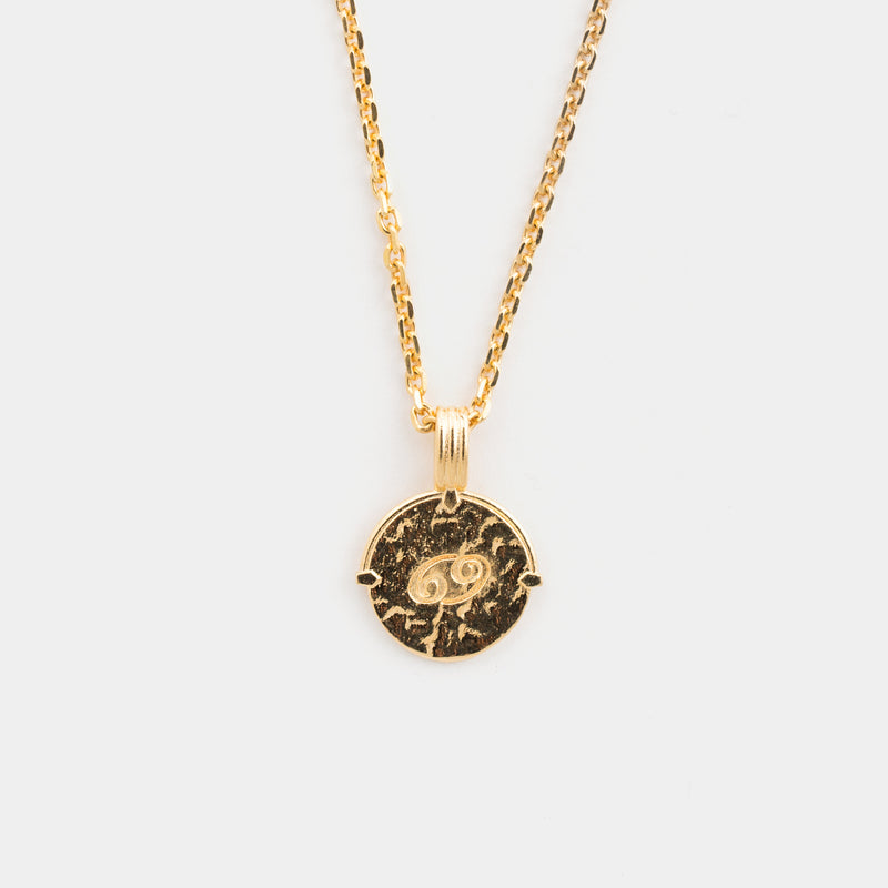 Cancer Necklace in Gold