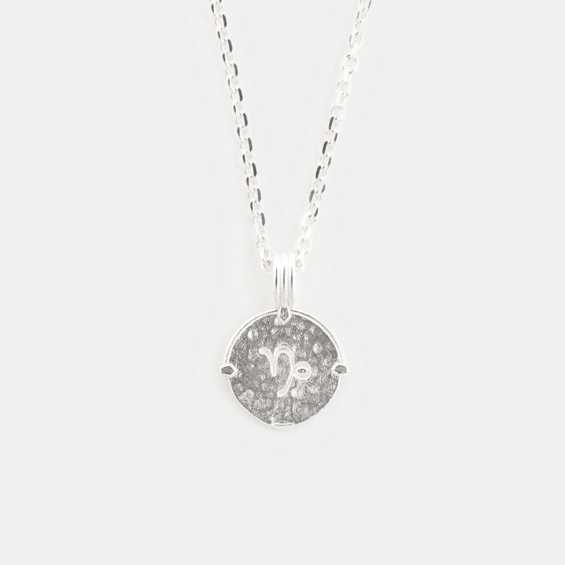 Zodiac Necklace in Silver for Him