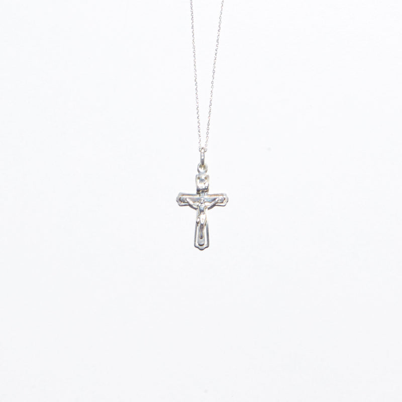 Henchey Crucifix Necklace in Sterling Silver